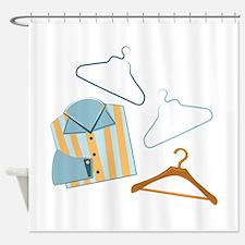 Shirt & Hangers Shower Curtain