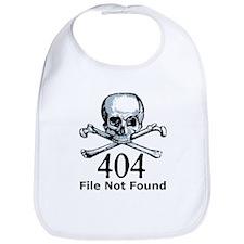 404 File Not Found Skull & Crossbones Bib