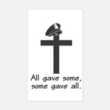 Police Memorial Cross Rectangle Decal