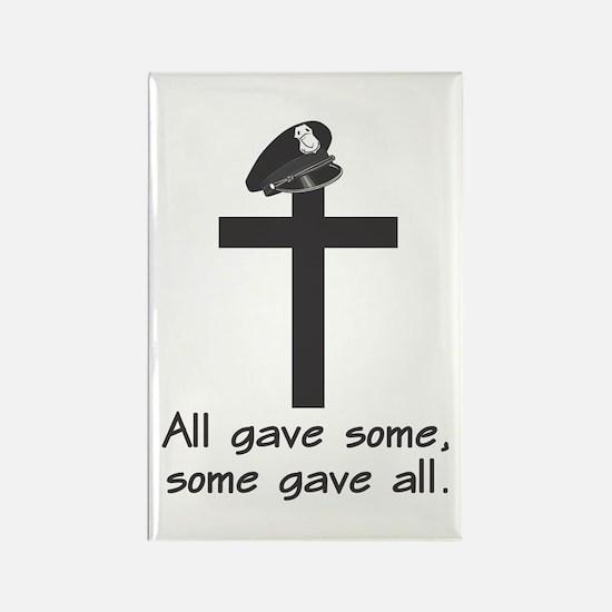 Police Memorial Cross Rectangle Magnet