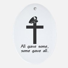 Police Memorial Cross Oval Ornament