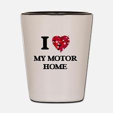 I Love My Motor Home Shot Glass
