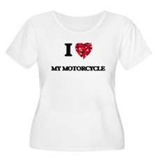 I Love My Motorcycle Plus Size T-Shirt
