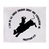Bull riding Fleece Blankets
