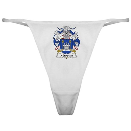 Marques Family Crest Classic Thong
