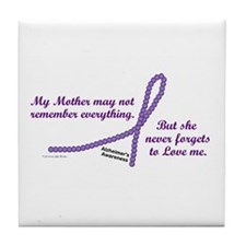 Never Forgets To Love (Mother) Tile Coaster