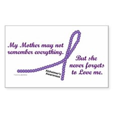 Never Forgets To Love (Mother) Sticker (Rectangula