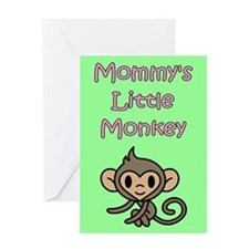 MOMMY'S LITTLE MONKEY Greeting Card