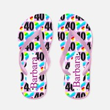 Pretty 40th Flip Flops
