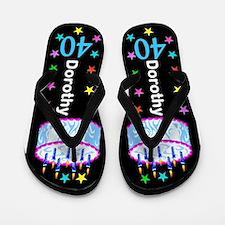 40th Festive Flip Flops