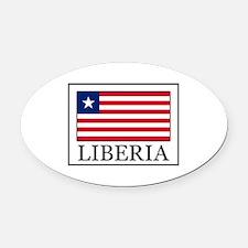 Liberia Oval Car Magnet