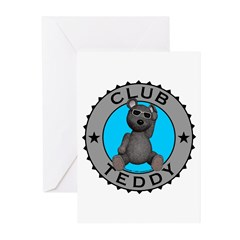 Club Teddybear Greeting Cards (Pk of 20)