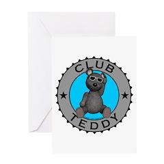 Club Teddybear Greeting Card