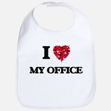 I Love My Office Bib