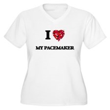 I Love My Pacemaker Plus Size T-Shirt