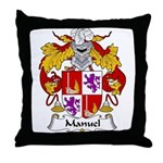 Manuel Family Crest Throw Pillow