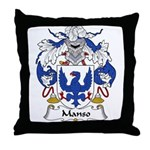Manso Family Crest Throw Pillow