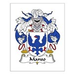 Manso Family Crest Small Poster