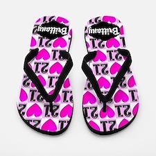 21st Pink Love Flip Flops