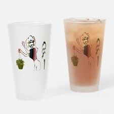 The Lady and Her Plants Drinking Glass