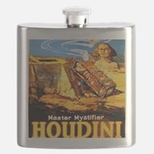 Master mystifier Houdini Rare Vintage Flask