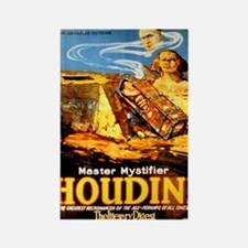 Master mystifier Houdini Rare Vin Rectangle Magnet