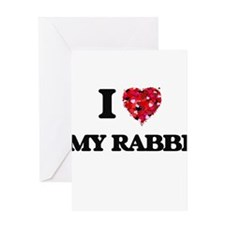 I Love My Rabbi Greeting Cards