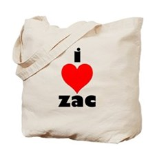 I Love Zac Tote Bag
