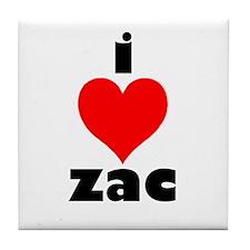 I Love Zac Tile Coaster