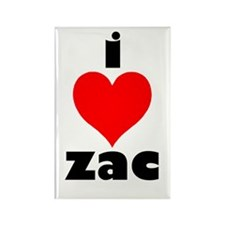 I Love Zac Rectangle Magnet