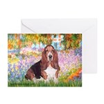 Basset in the Garden Greeting Cards (Pk of 20)
