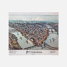Pittsburgh Pennsylvania 1902 Throw Blanket