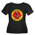 Teddy Bear Women's Plus Size Scoop Neck Dark Tee