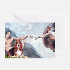 Creation & Basset Greeting Card