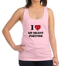 I Love My Silent Partner Racerback Tank Top