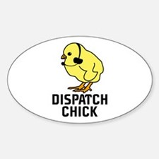 Dispatch Chick Oval Decal