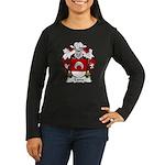 Luna Family Crest Women's Long Sleeve Dark T-Shirt
