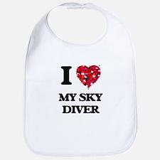 I love My Sky Diver Bib