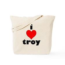 i love troy Tote Bag