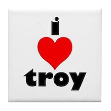 i love troy Tile Coaster
