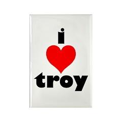 i love troy Rectangle Magnet (100 pack)