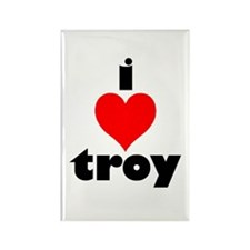 i love troy Rectangle Magnet