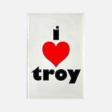 i love troy Rectangle Magnet