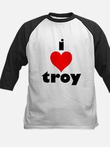 i love troy Kids Baseball Jersey