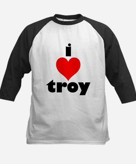 i love troy Kids Baseball Jersey