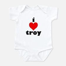 i love troy Onesie