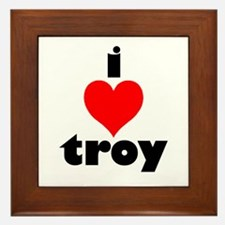 i love troy Framed Tile