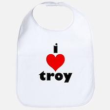 i love troy Bib
