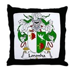 Loronha Family Crest Throw Pillow