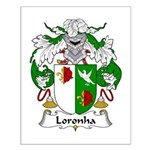 Loronha Family Crest Small Poster